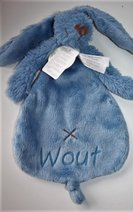denim rabbit richie donkerblauw et naam borduren